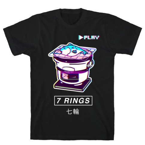 7 Rings Shichirin Parody Vapor Wave T-Shirt