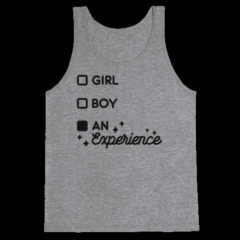 Girl, Boy, An Experience Checklist Tank Top