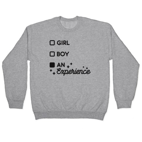Girl, Boy, An Experience Checklist Pullover