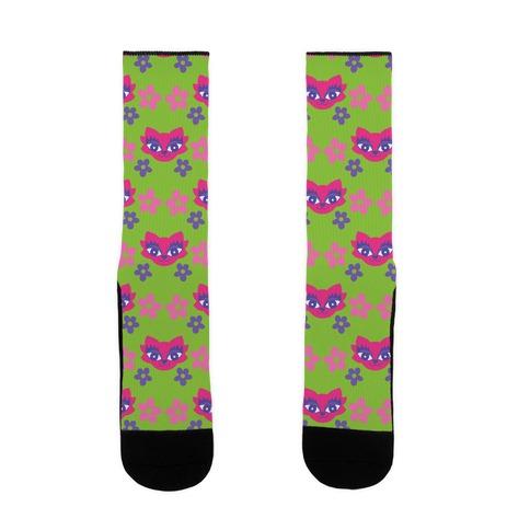 Y2K Cat Pattern Sock