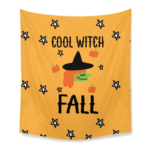 Cool Witch Fall Tapestry