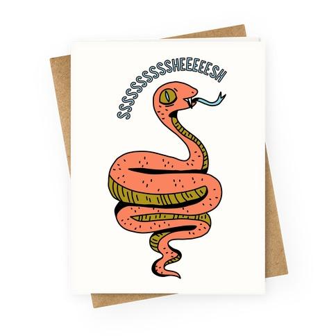 Sheesh Snake Greeting Card