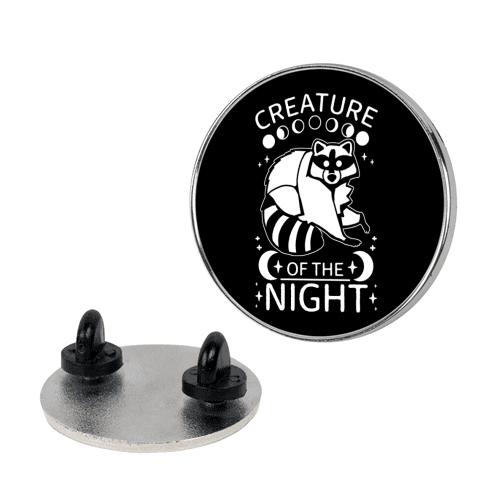 Creature Of The Night Raccoon Pin