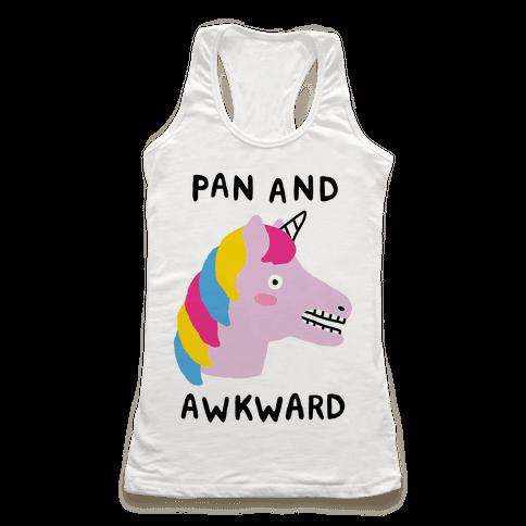 Pan And Awkward  Racerback Tank Top
