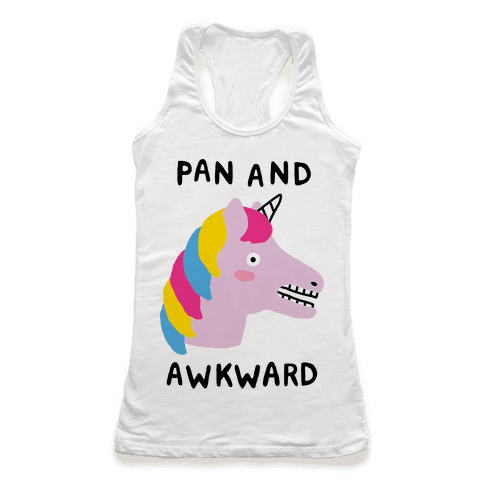 Pan And Awkward  Racerback Tank Top