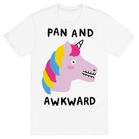Pan And Awkward  Mens T-Shirt