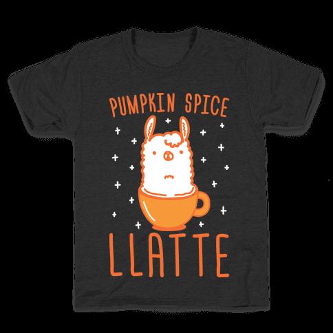 Pumpkin Spice Llatte Kids T-Shirt