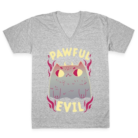 Pawful Evil V-Neck Tee Shirt