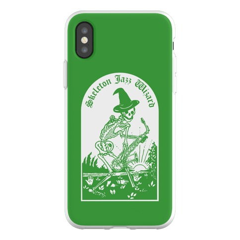 Skeleton Jazz Wizard Phone Flexi-Case