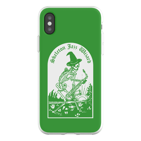 Skeleton Jazz Wizard Phone Flexi-Case