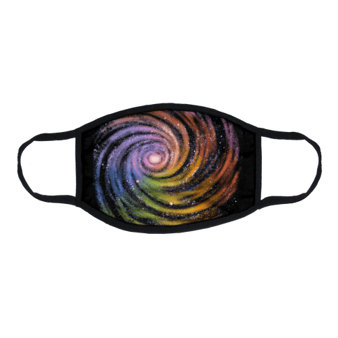 Galactic Rainbows Flat Face Mask
