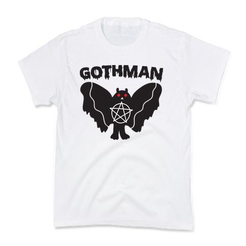 Gothman Goth Mothman Kids T-Shirt