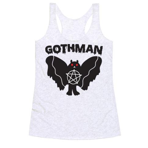 Gothman Goth Mothman Racerback Tank Top