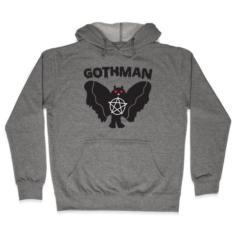 Gothman Goth Mothman Hooded Sweatshirt