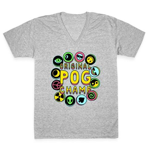 Original POG Champ V-Neck Tee Shirt