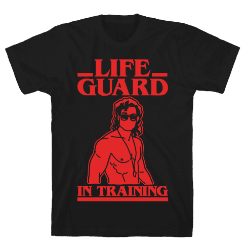 Life Guard In Training Parody White Print Mens/Unisex T-Shirt