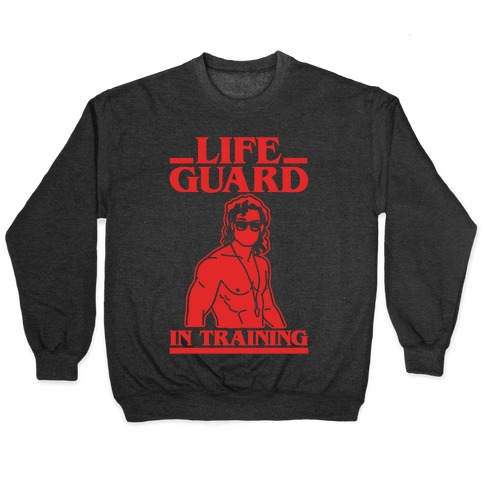 Life Guard In Training Parody White Print Pullover