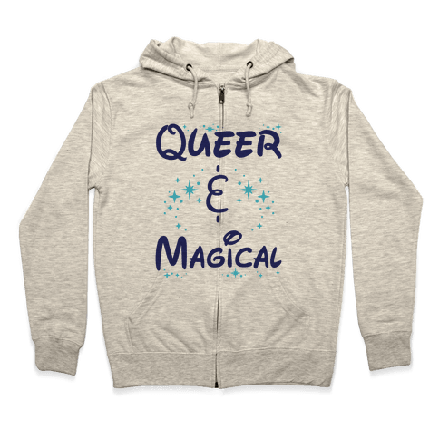 Queer and Magical Zip Hoodie