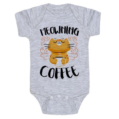 Meowning Coffee Baby Onesy