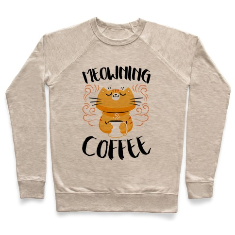 Meowning Coffee Pullover