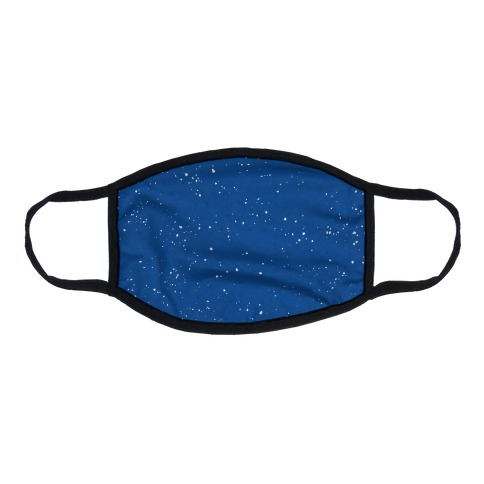 Blue Speckled Camp Pattern Flat Face Mask