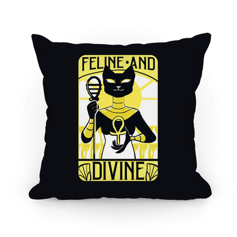 Feline and Divine Pillow