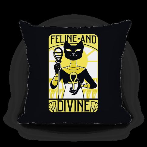 Feline and Divine Pillow