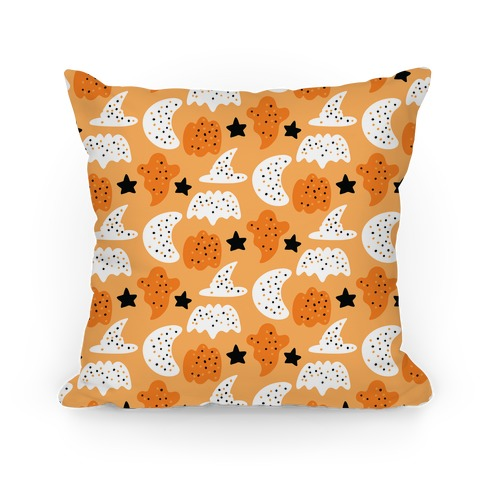 Frosted Halloween Cookies Pattern Pillow