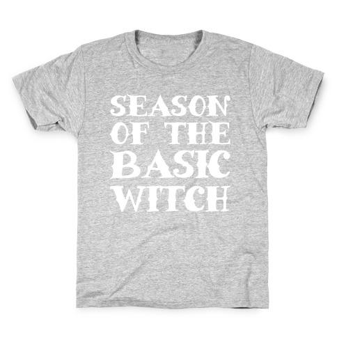 Season of The Basic Witch Parody White Print Kids T-Shirt