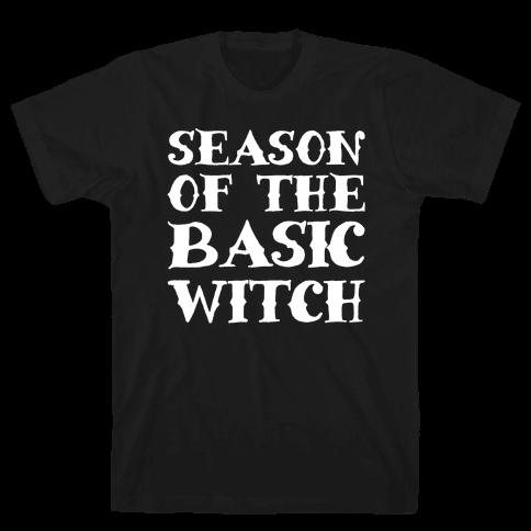 Season of The Basic Witch Parody White Print Mens T-Shirt
