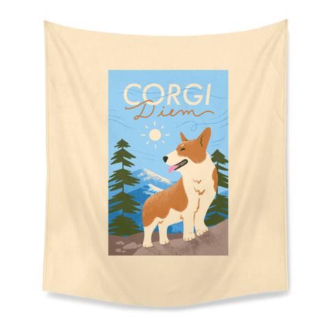 Corgi Diem Tapestry