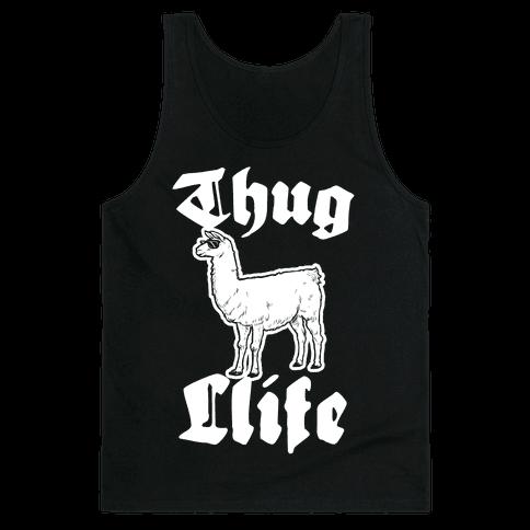 Thug Llife (llama) Tank Top