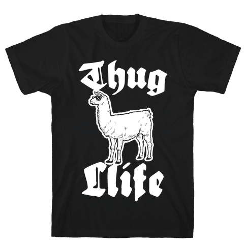 Thug Llife (llama) Mens T-Shirt