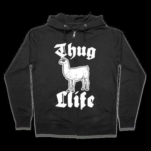 Thug Llife (llama) Zip Hoodie