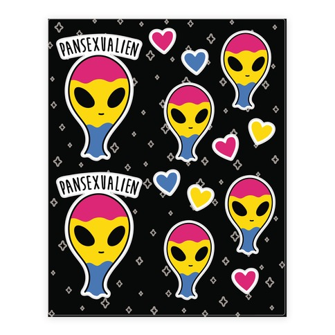 Pansexualien Sticker and Decal Sheet