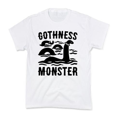 Gothness Monster Parody Kids T-Shirt