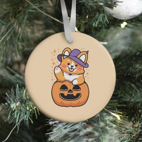 Cute Halloween Corgi Ornament