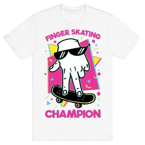 Finger Skating Champion T-Shirt