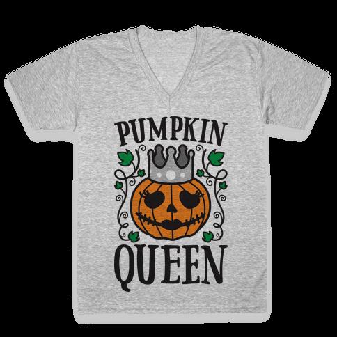 Pumpkin Queen V-Neck Tee Shirt