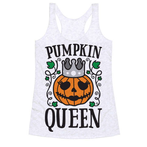 Pumpkin Queen Racerback Tank Top