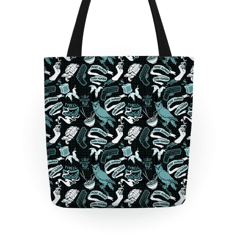 Do Androids Dream Sci Fi Pattern (grey) Tote