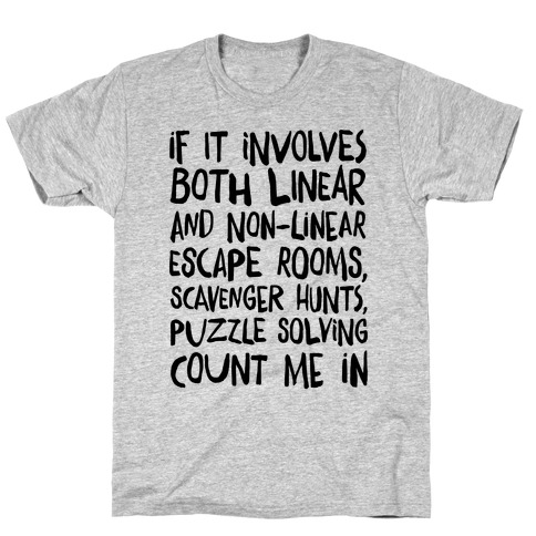 If It Involves Escape Rooms Count Me In T-Shirt