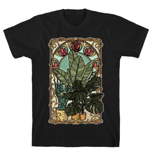 Art Nouveau House Plants T-Shirt