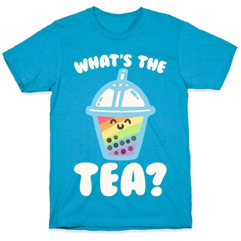 What's The Tea Bubble Tea White Print T-Shirt