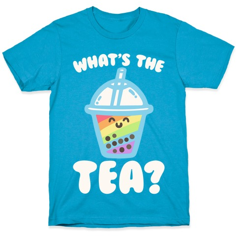 What's The Tea Bubble Tea White Print T-Shirt