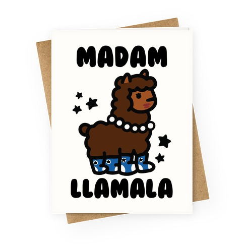 Madam Llamala Greeting Card