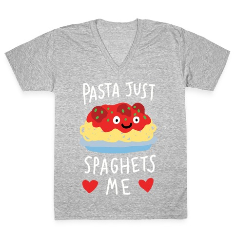 Pasta Just Spaghets Me V-Neck Tee Shirt