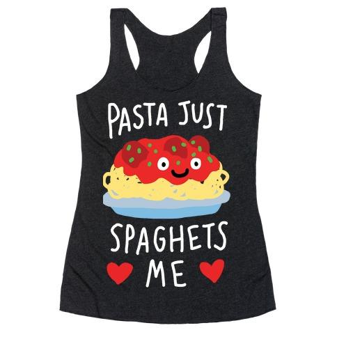 Pasta Just Spaghets Me Racerback Tank Top