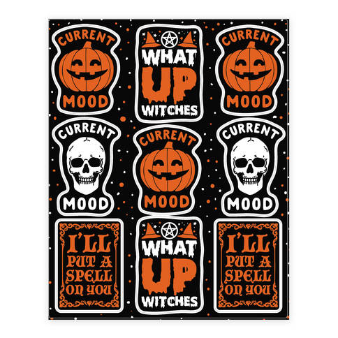Current Mood:Halloween  Sticker/Decal Sheet