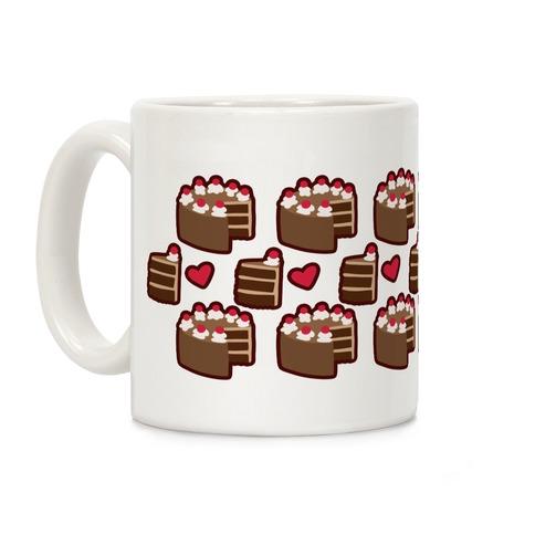 Choccy Cake Pattern Coffee Mug